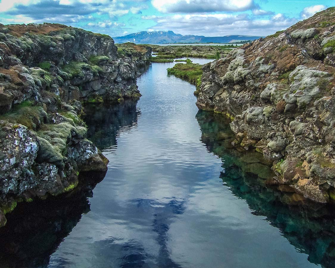 The Silfra Fissure in Thingvellir National Park Iceland