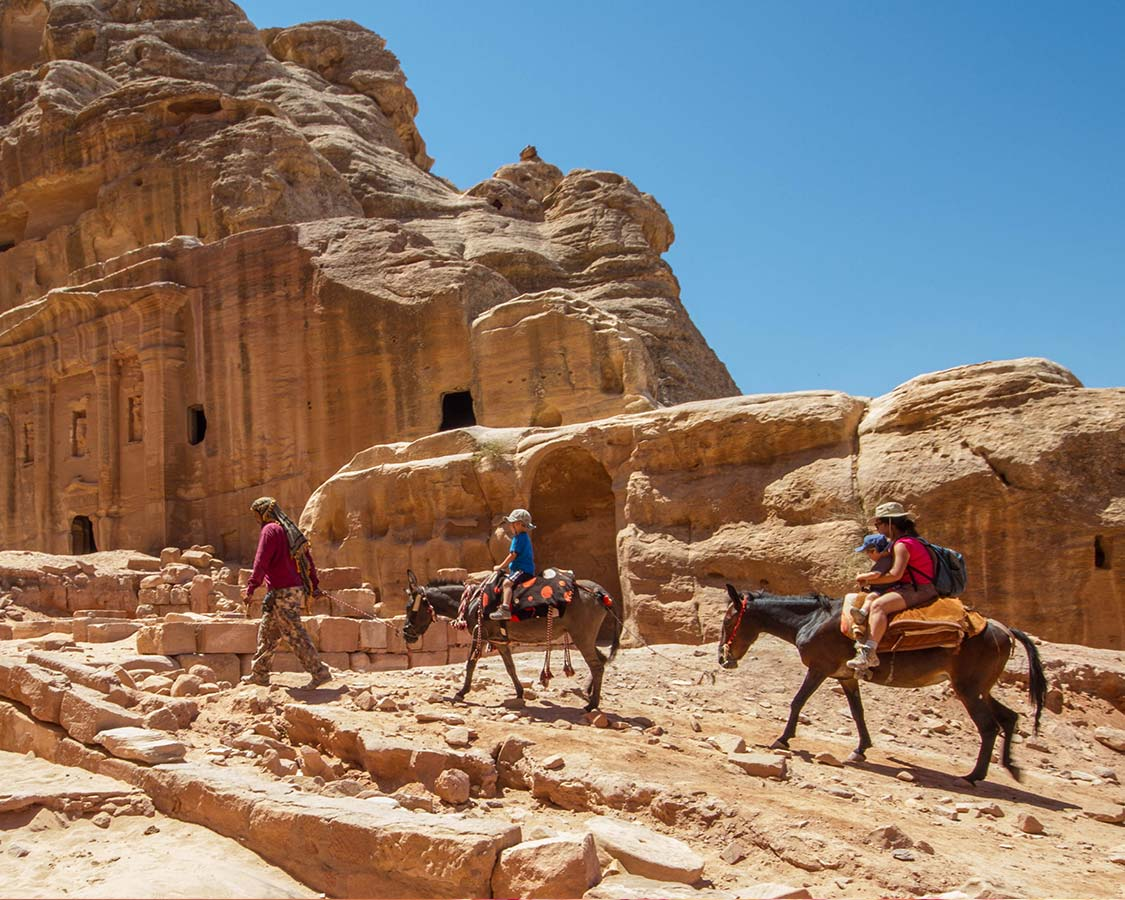 Family travel to Jordan
