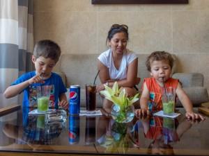 Lemon and Mint juice at the Radisson Blu Resort near the Red Sea, Jordan.