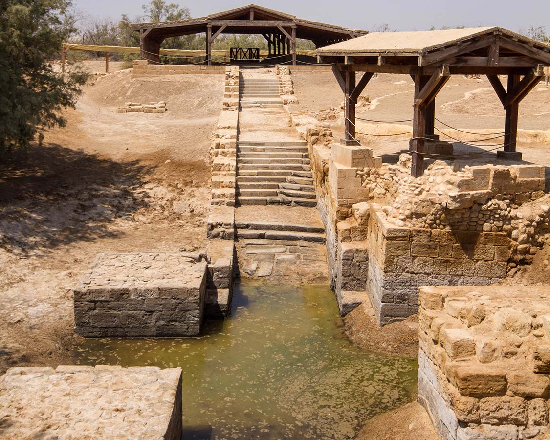 The site of the Baptism of Jesus at Bethany Beyond the Jordan near the Dead Sea