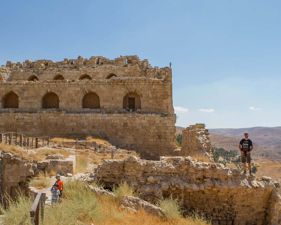 Wandering Wagars at Al-Kerak Castle in Jordan near the Dead Sea