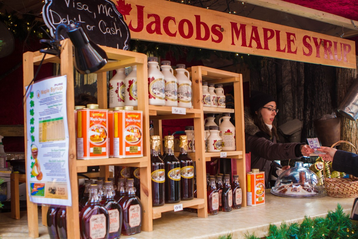 St. Jacobs Market stand at the Toronto Christmas Market in the Distillery District