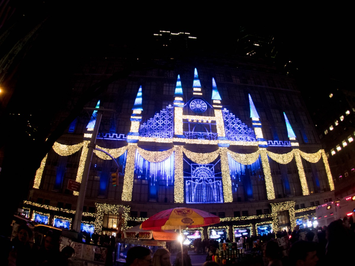 Manhattan does Christmas Big - Saks Display