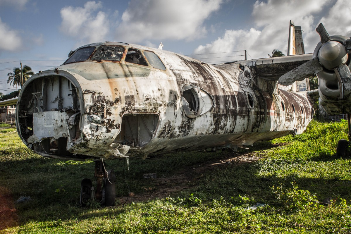 Grenada Tour - Ruined Airplane