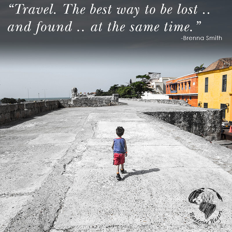 Young boy walking along the walls of an ancient city with colourful buildings in the background - Inspirational Quotes