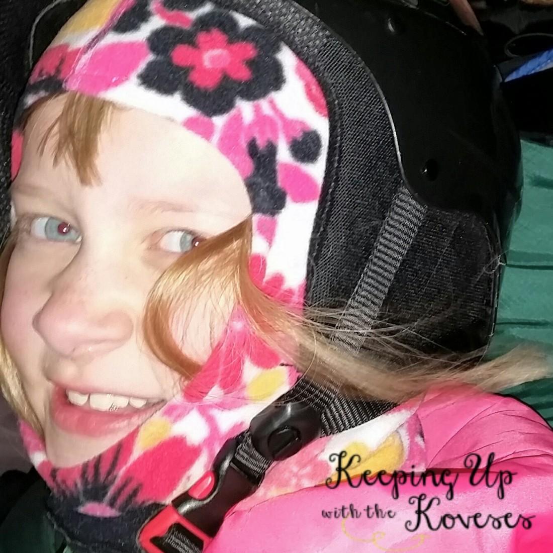 Girl smiling - Skiing North Michigan