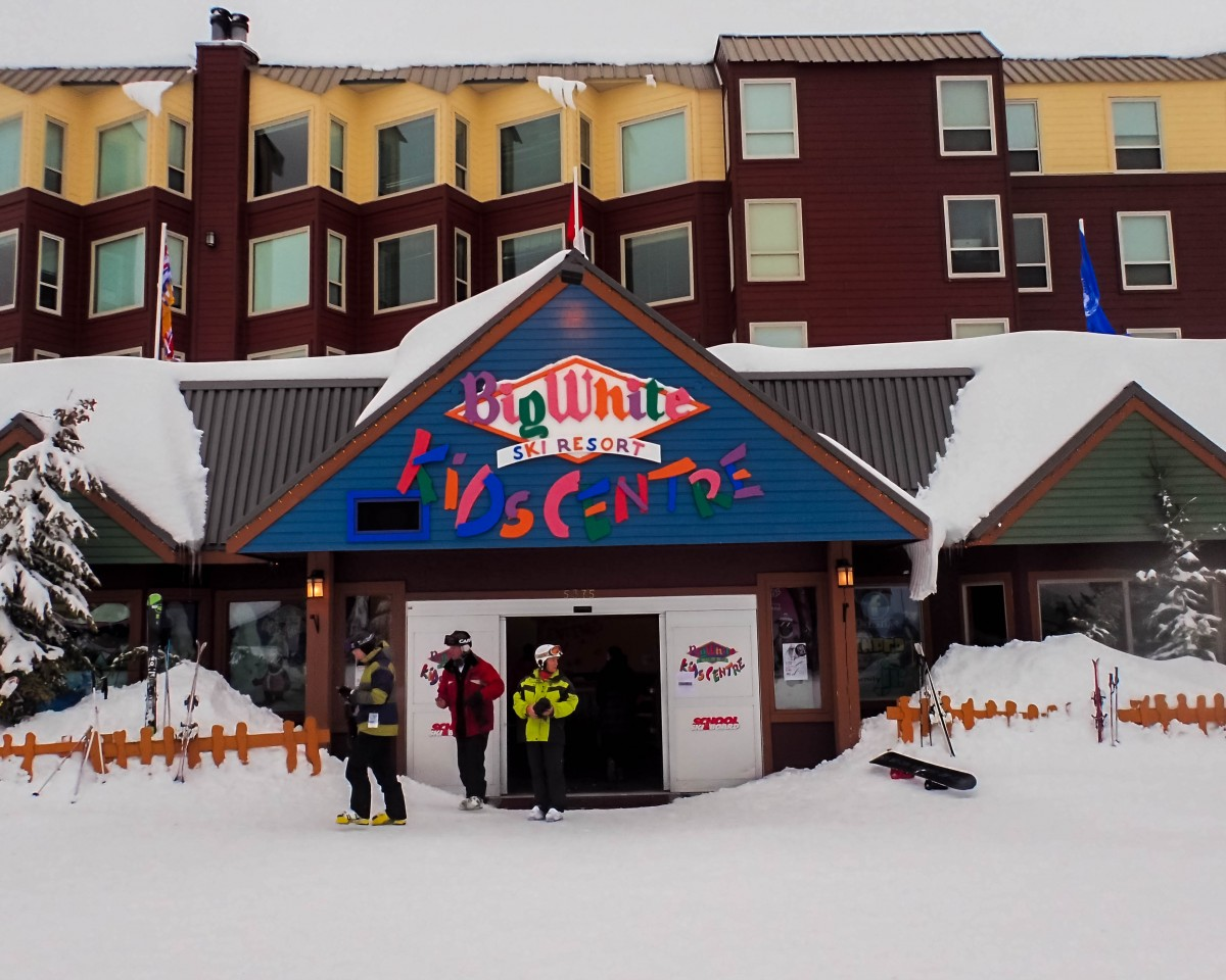Kids centre at a ski resort - Learning to Ski at Kelowna's Big White