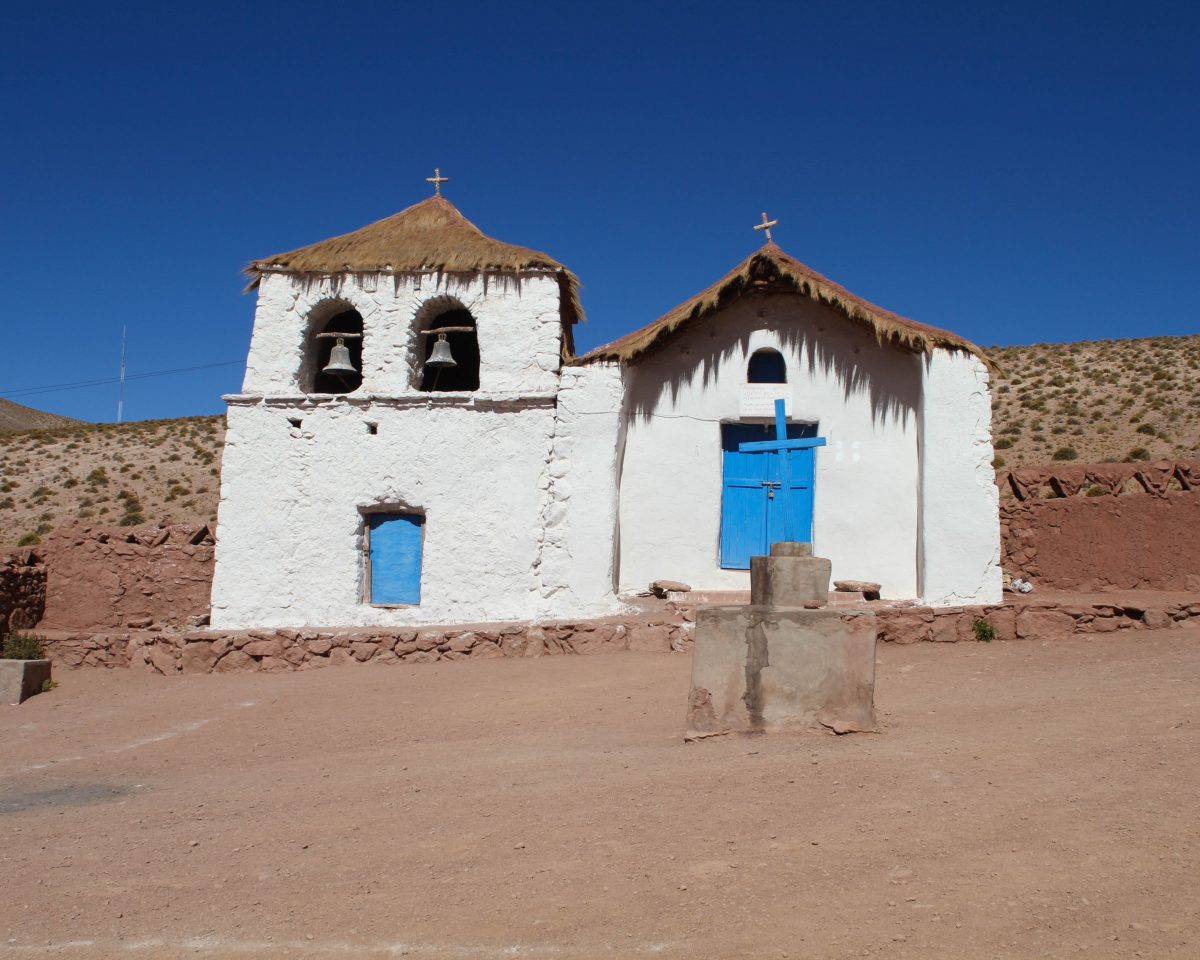 San Santiago Church in Manchuca village Chile.