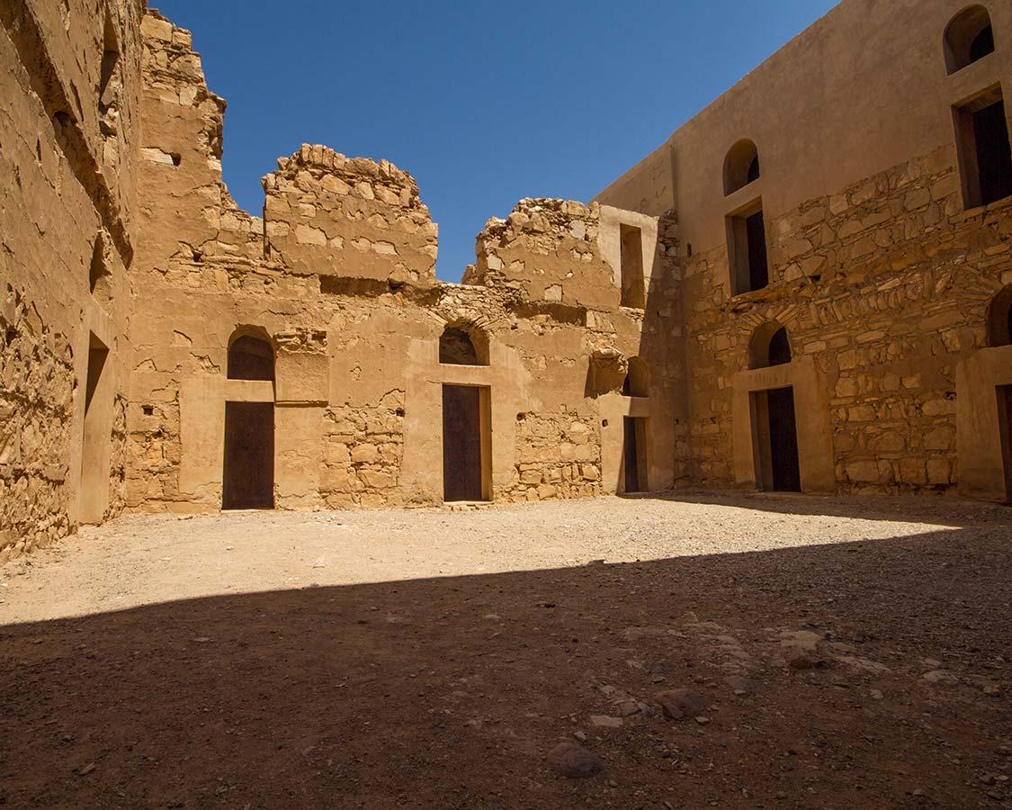 Castles in Jordan Inside Qasr Kharana