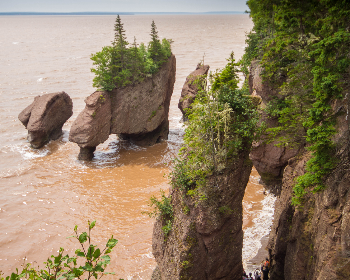 Hopewell Rocks on the Fundy Coastal Trail, one of our unforgettable Canadian Road Trips