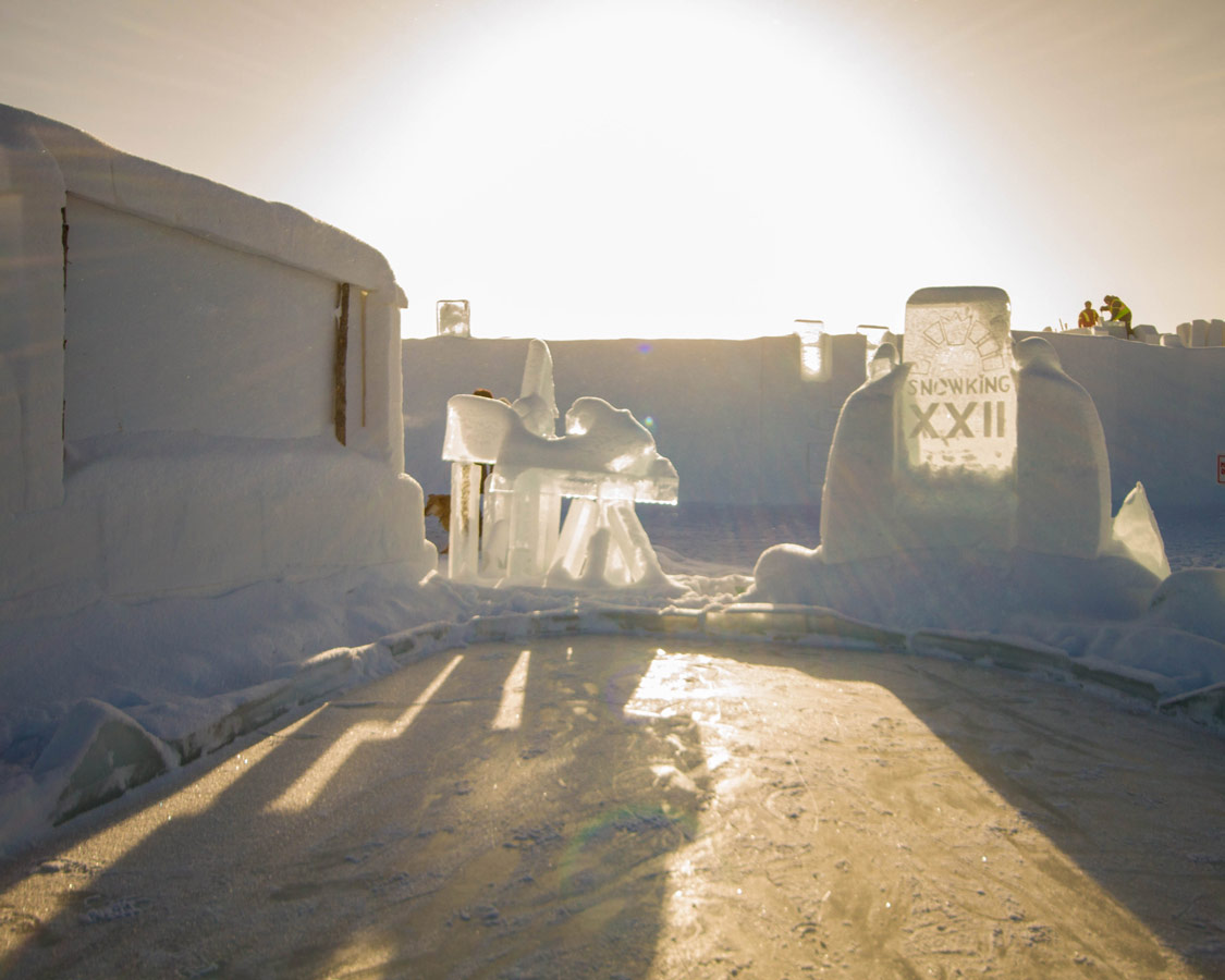 The Snow castle is the location of the Snowking Festival in Yellowknife.