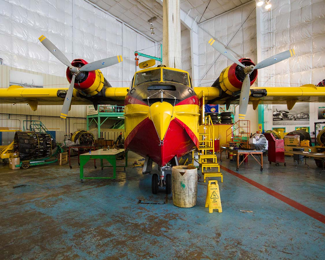 What to see in Yellowknife Ice Pilots airplane at Buffalo Airways Hangar