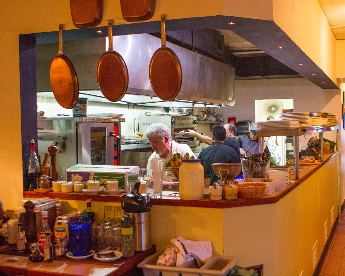 Kitchen of Wahoo Bistro and Pub in St. George Bermuda