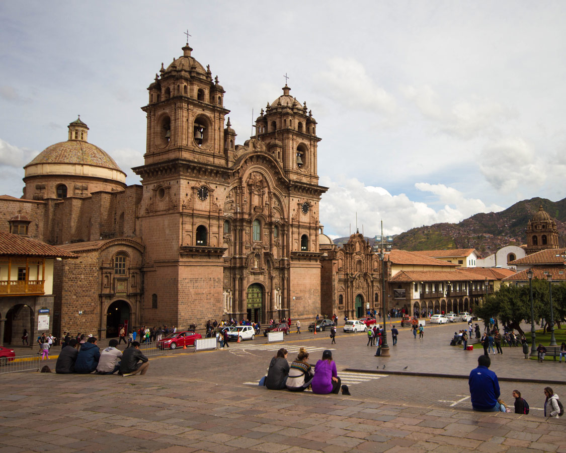 Church in the Plaza de Armas in just 2 blocks from the ChocoMuseo in Cusco Peru
