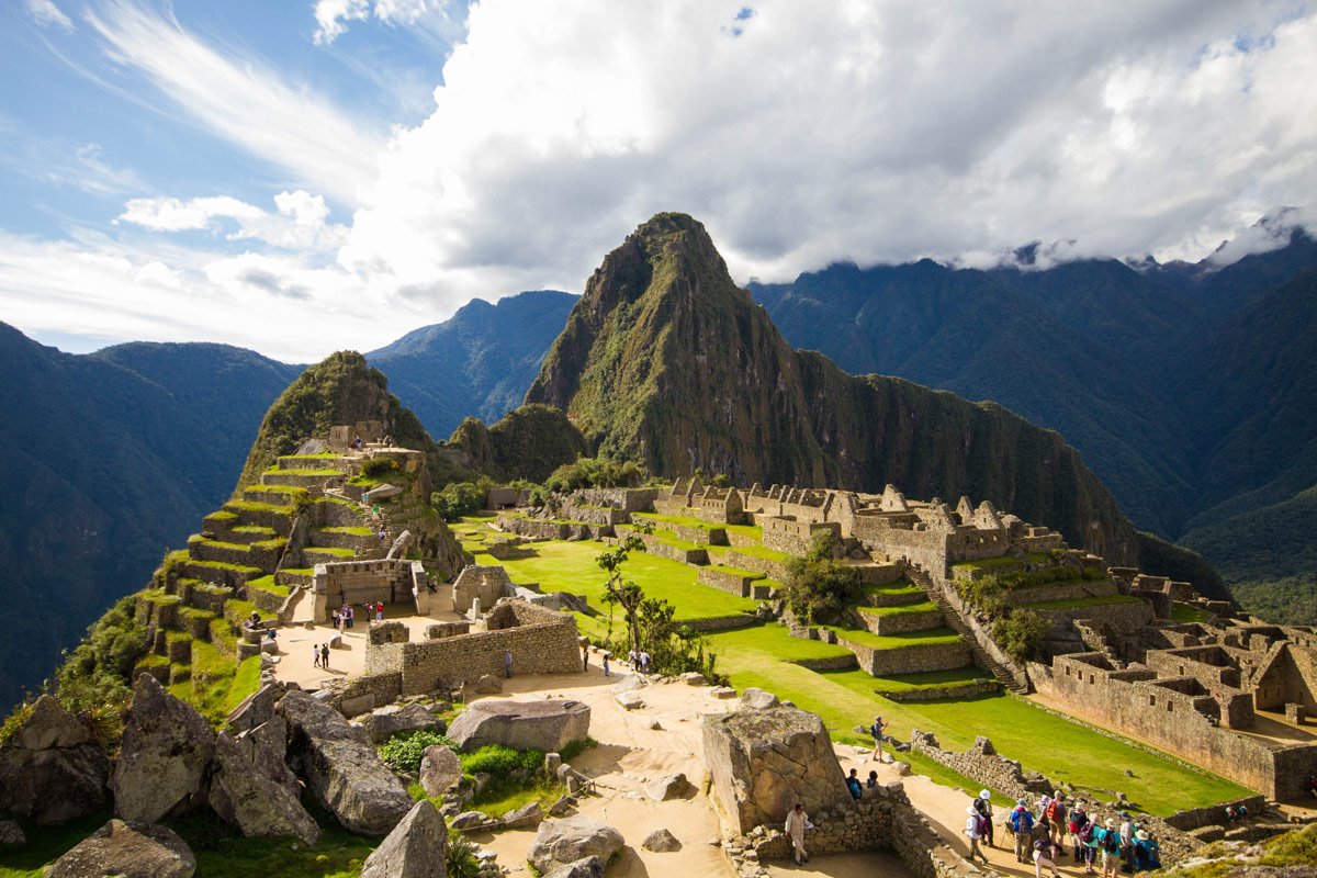 Machu Picchu for families - Overlooking Machu Picchu Sanctuary.