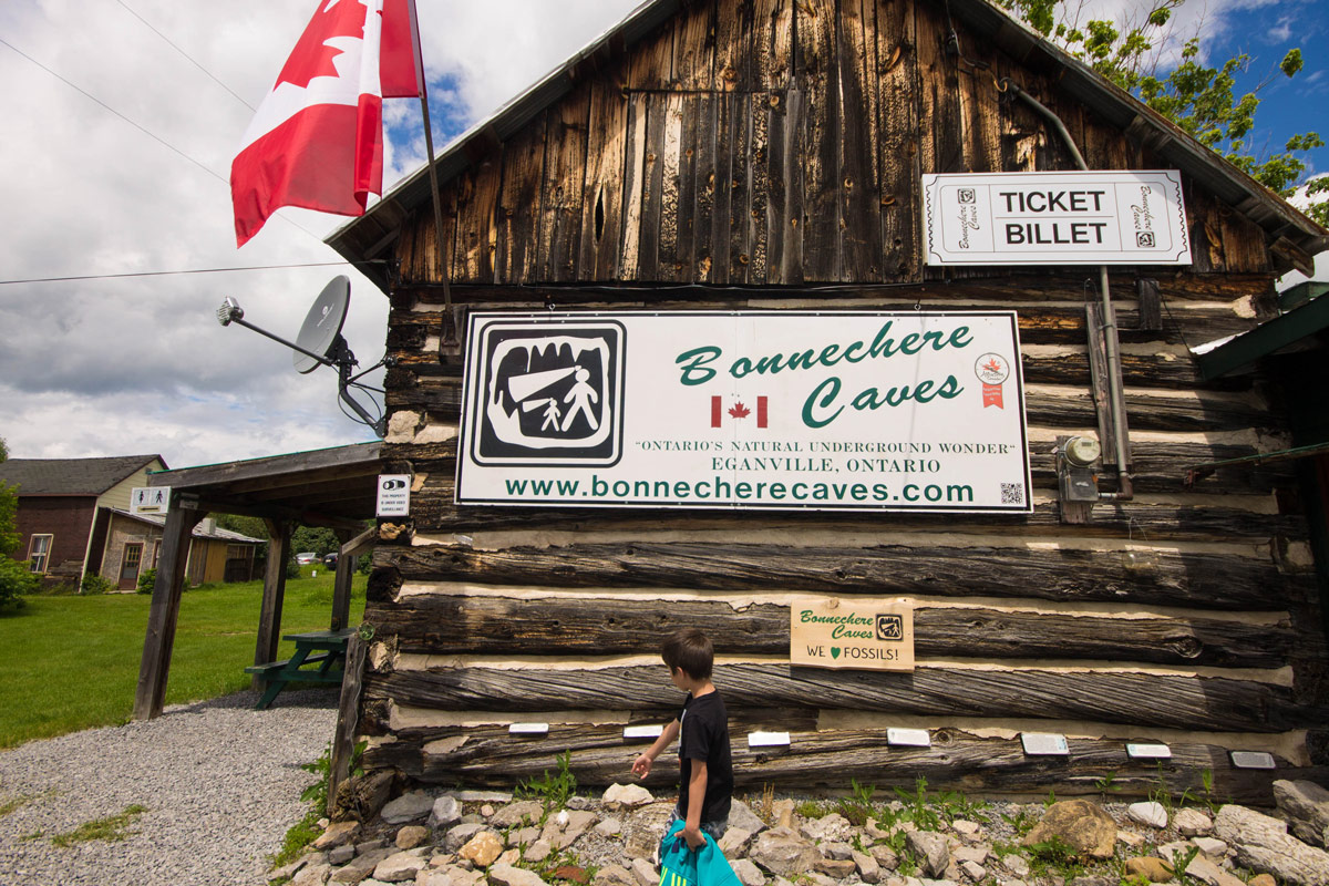 Bonnechere Caves with kids Main Entrance