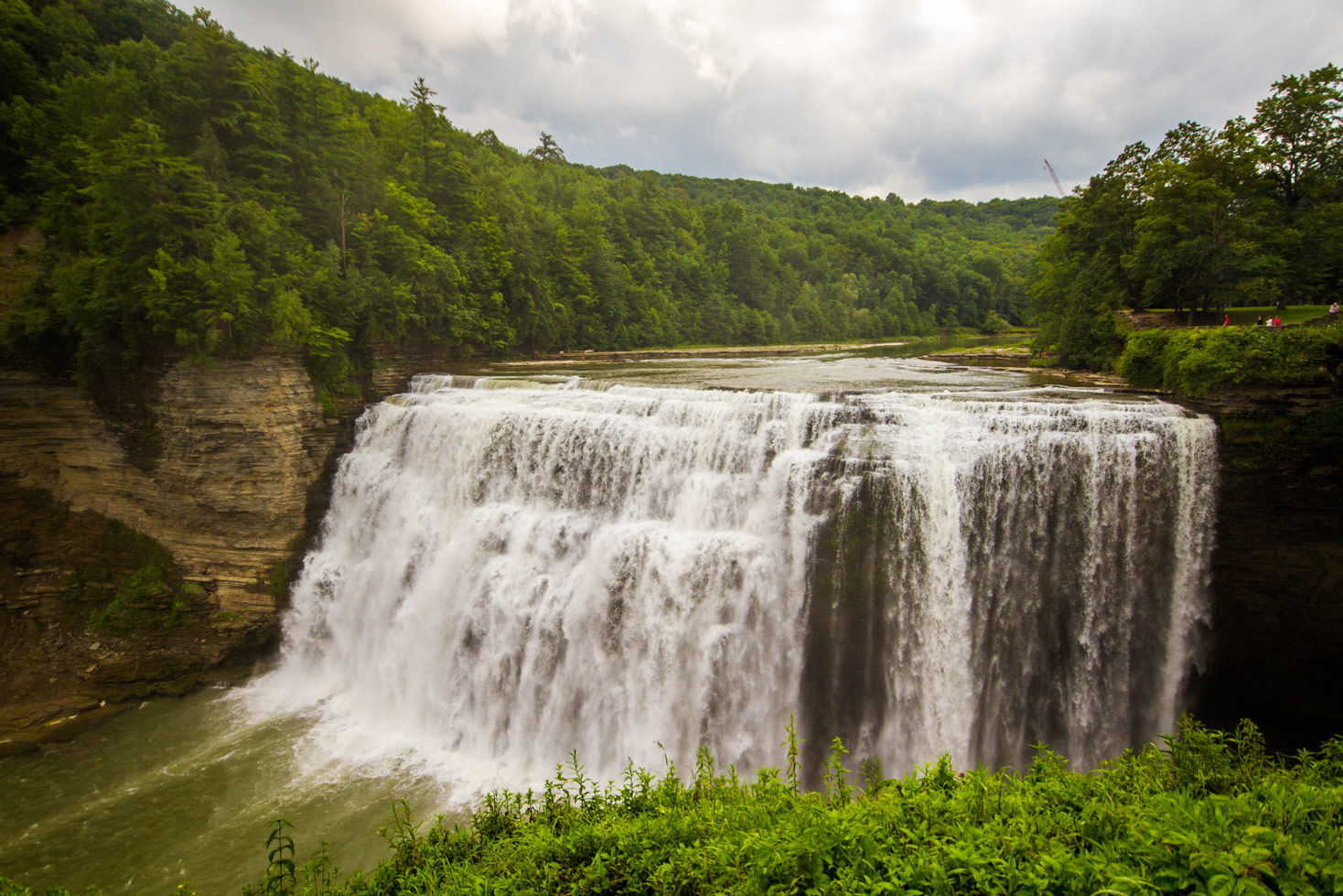 Middle Falls in Letchworth State Park in New York State