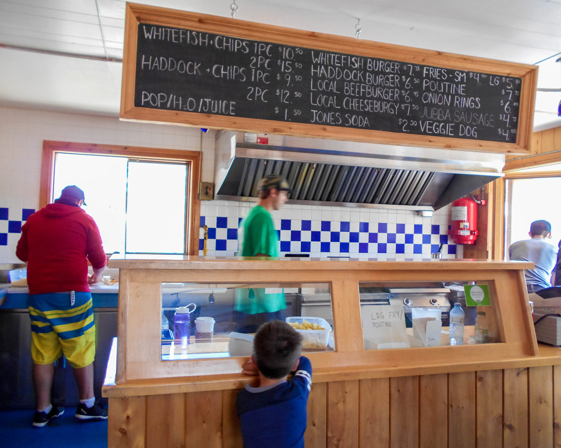 Lake Huron Fish and Chips in Providence Bay Manitoulin Island. Lake Huron Fish and Chips is one of the best things to do on Manitoulin Island
