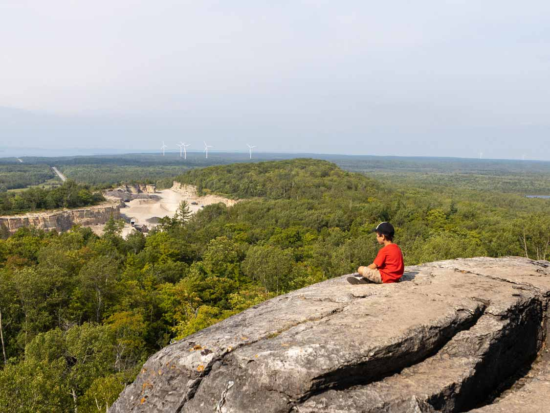 Views from the Cup and Saucer-Trail-on Manitoulin Island September 2020