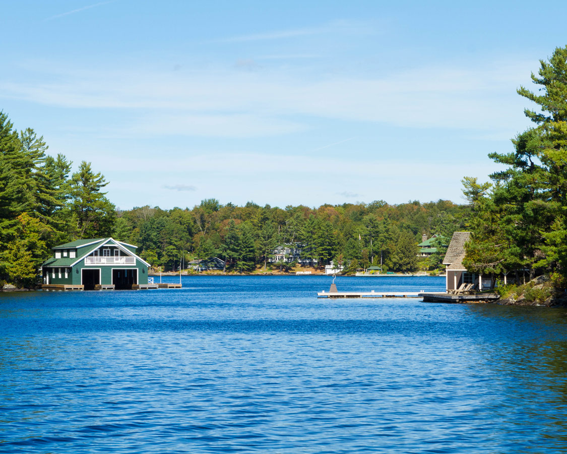 Entering Millionaires Row on Lake Muskoka in Bracebridge Ontario