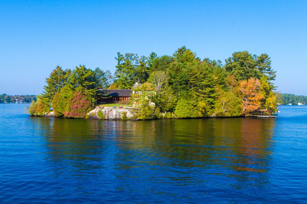 Fall colors of the Lake Muskoka Steamship Cruise in Gravenhurst Ontario