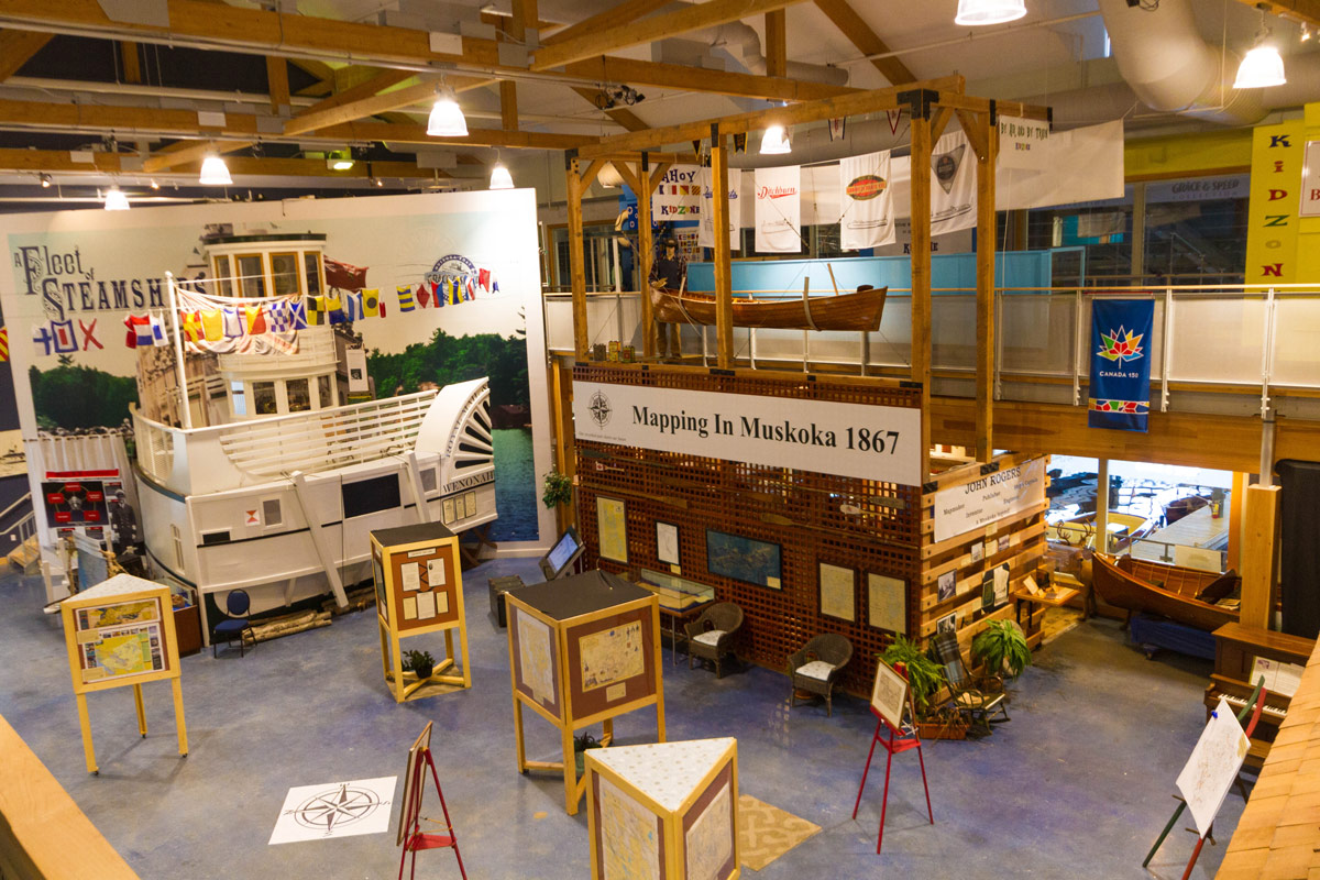 Inside the Muskoka Discovery Center in Gravenhurst Ontario