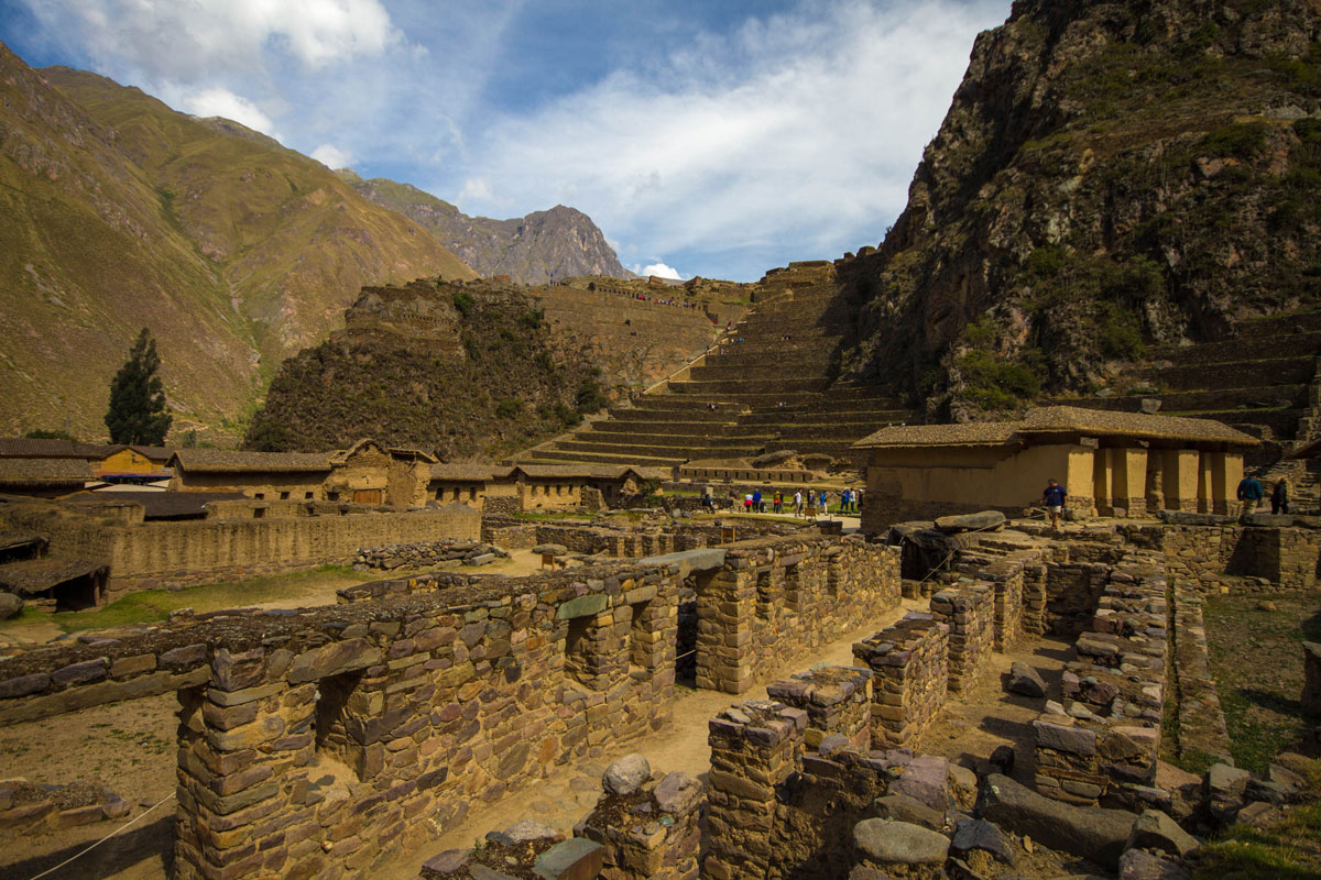 Ollantaytambo Incan Ruins in the Sacred Valley Peru with kids on a 14 day Peru itinerary