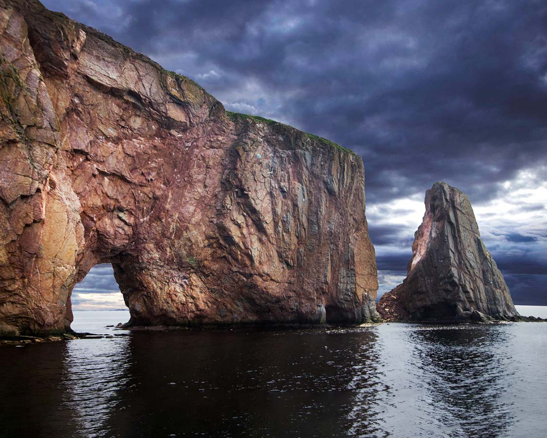 Perce Rock on the Gaspe peninsula stands dramatically out from the gulf of  St. Lawrence 404eb73df3b
