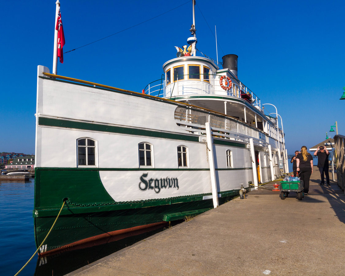 RMS Segwun Steamship on Lake Muskoka in Huntsville Ontario. The Segwun is a great way to experience a Lake Muskoka Steamship Cruise