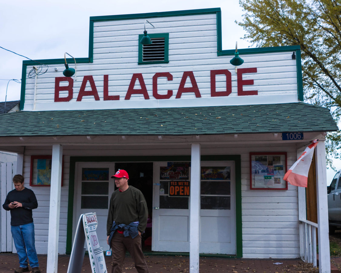 The Balacade in Bala Ontario is a popular spot for young people during the Bala Cranberry Festival
