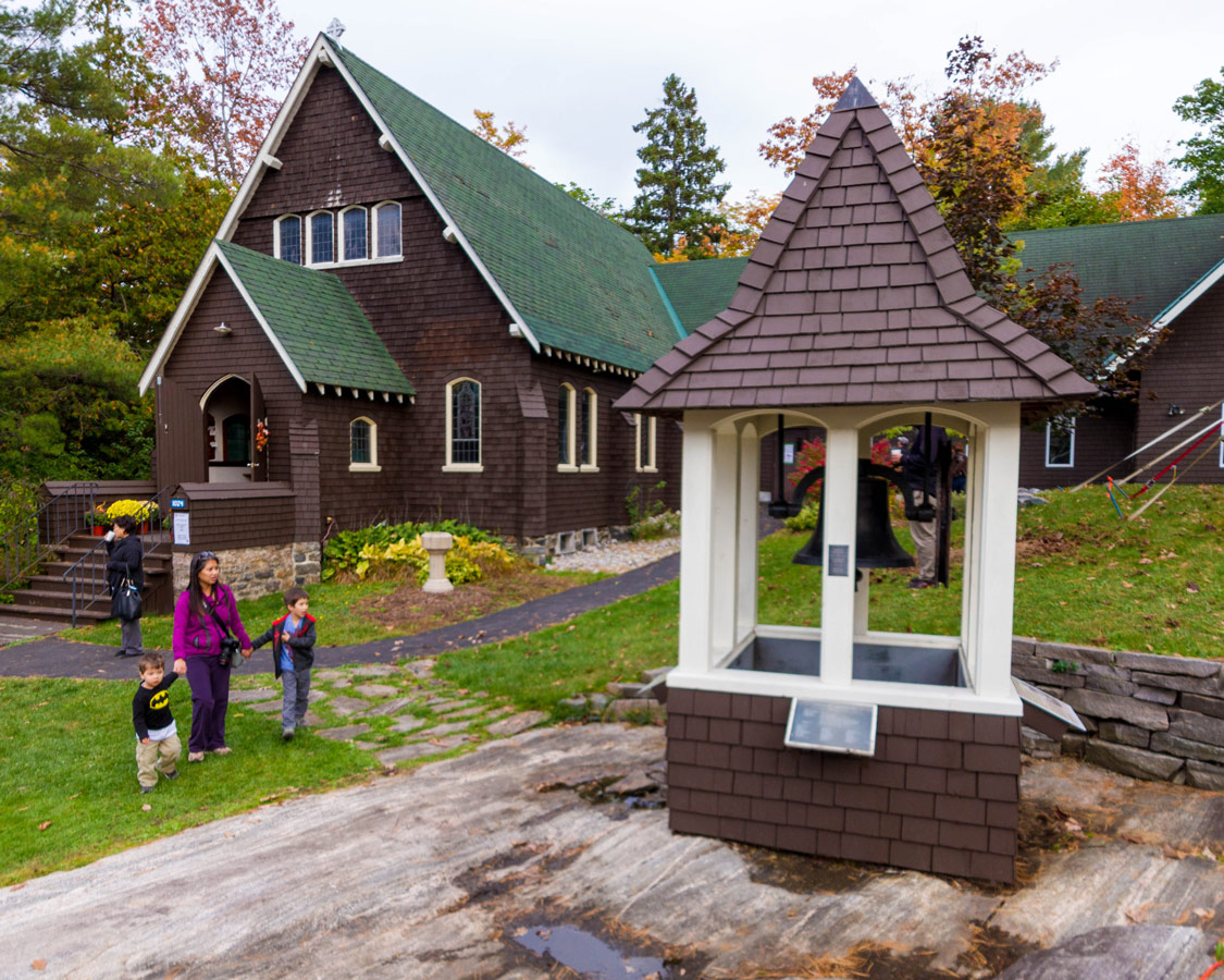 Trinity St. Alban's Anglican Church in Bala Ontario is a beautiful place to visit during the Bala Cranberry Festival