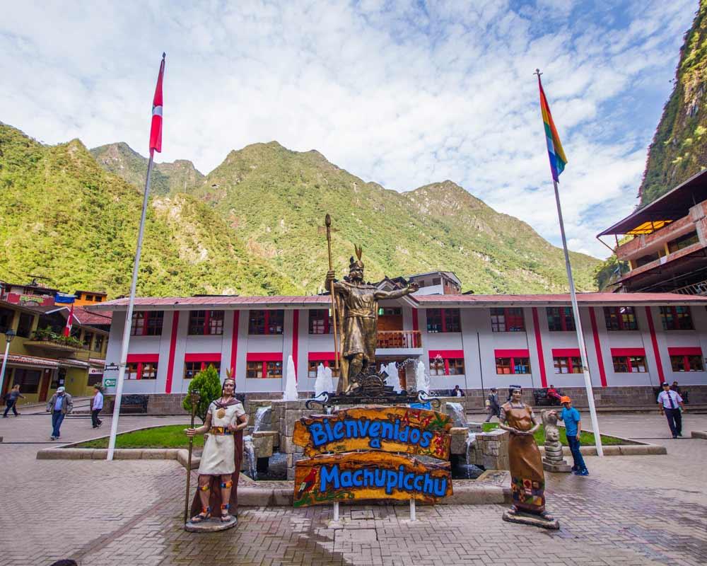 Main square of Machu Picchu Pueblo Peru