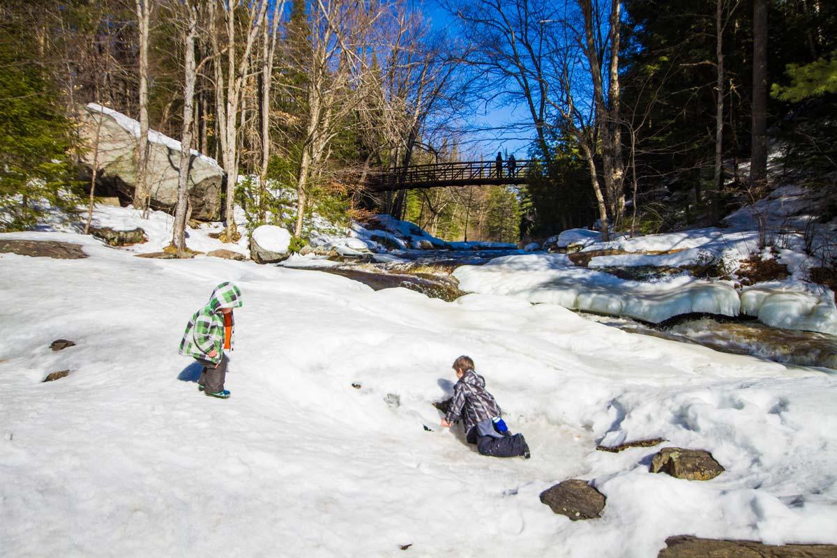 Boys at Arrowhead Provincial Park during Winter