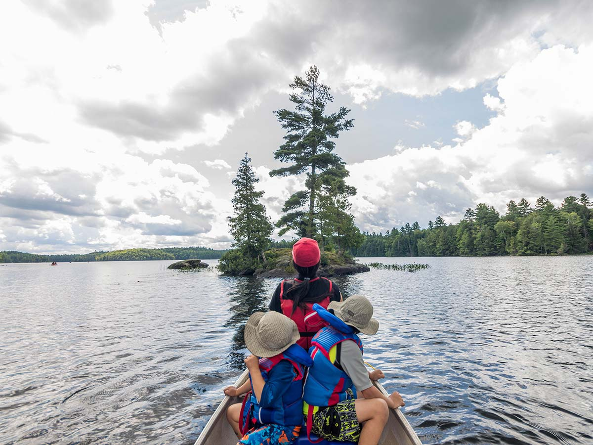 Canoeing at Silent Lake Provincial Park in Ontario
