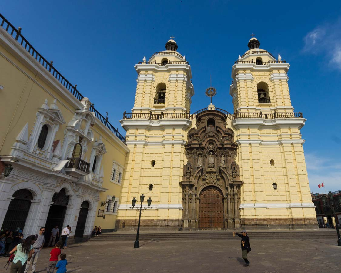 Catacombs and the Cathedral of San Francisco in Lima Peru with kids