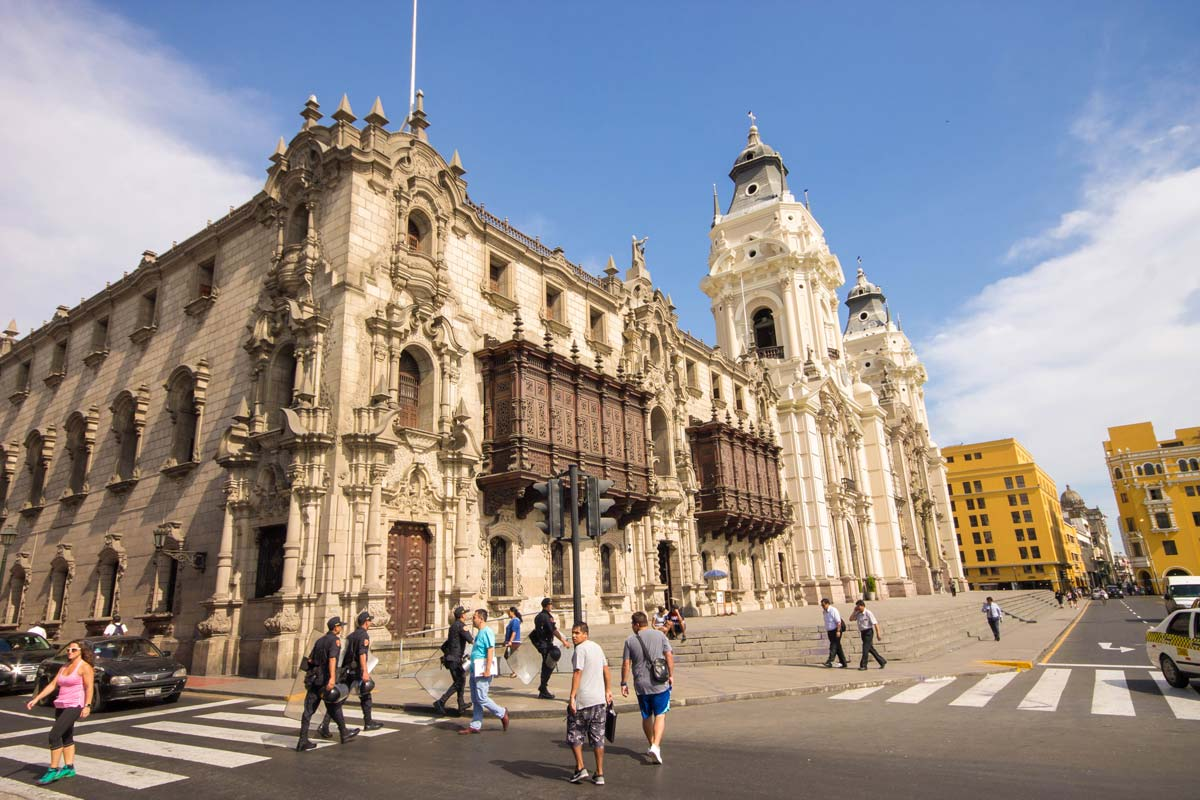 Classic architecture of Lima Peru for kids