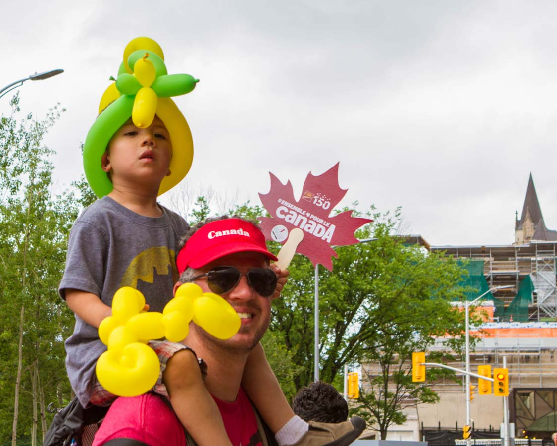 Kevin Wagar and D at the Canada Day celebrations in Ottawa Ontario