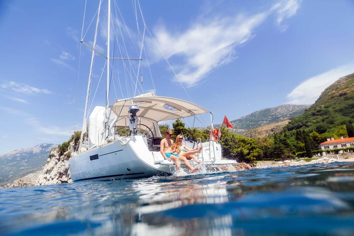 Family sailing in Croatia