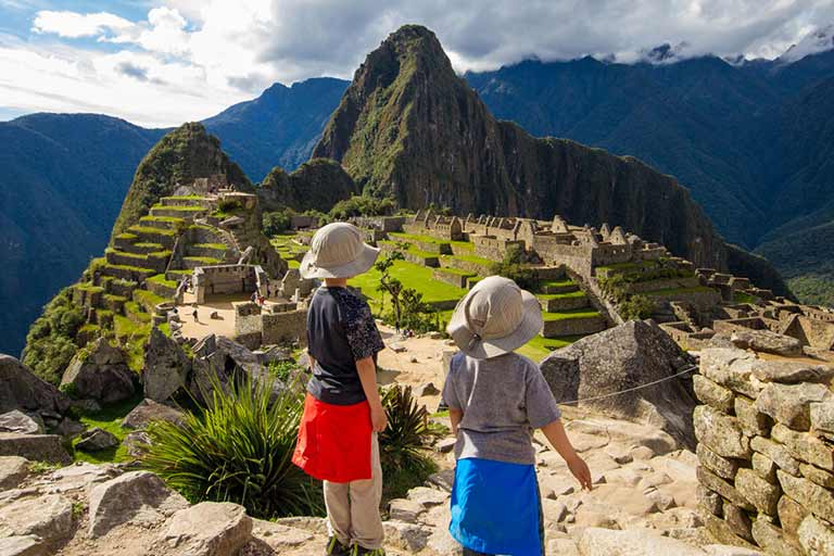 Travel with kids to Machu Picchu