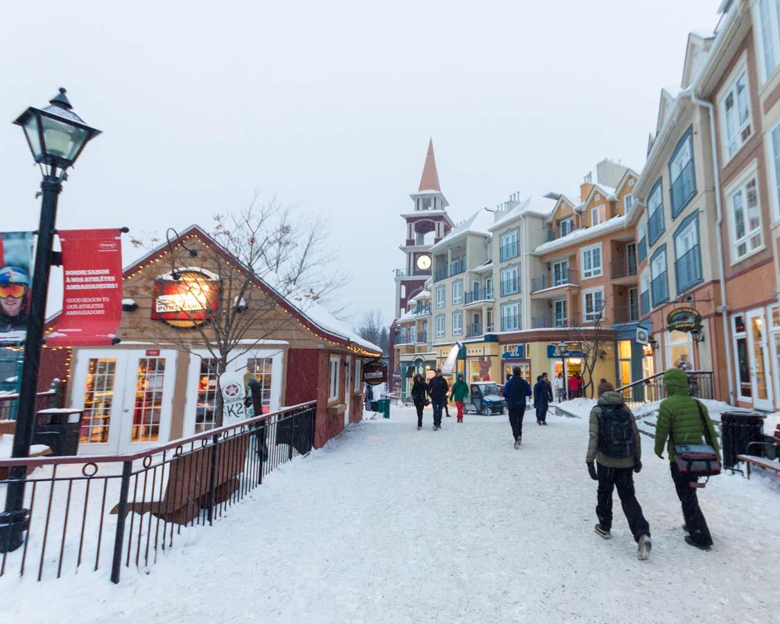 Mont Tremblant Pedestrian Village in Quebec