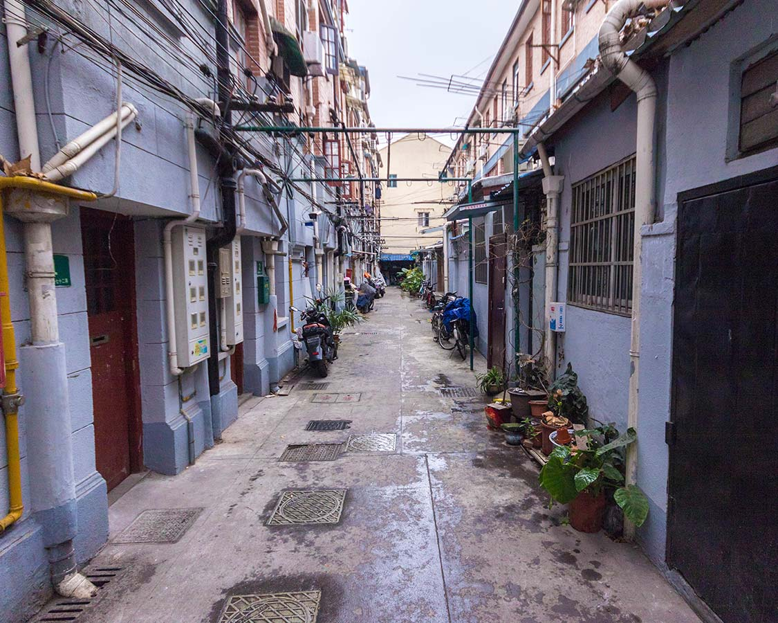Alley neighborhoods in Shanghai China