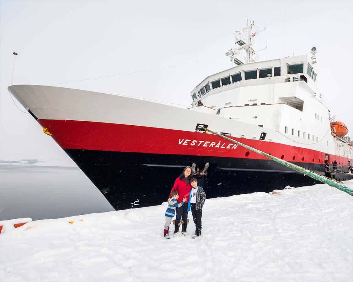 Boarding the Hurtigruten MS Vesteralen in Kirkenes Norway