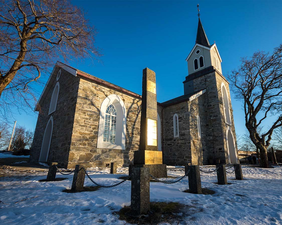 Church in Bronnosoyund Norway Shore excursion