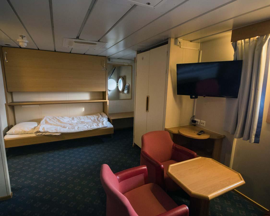 Hurtigruten Norway family state room