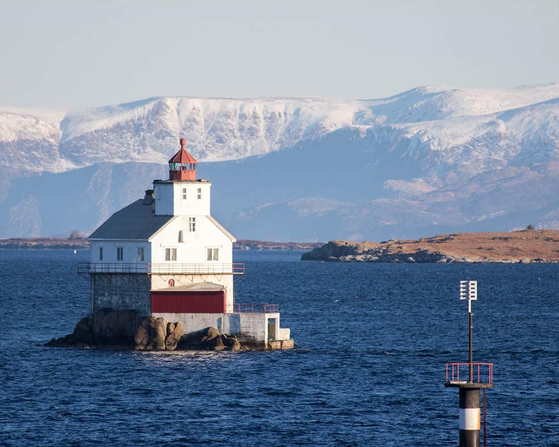 Lighthouse near Bergen Norway