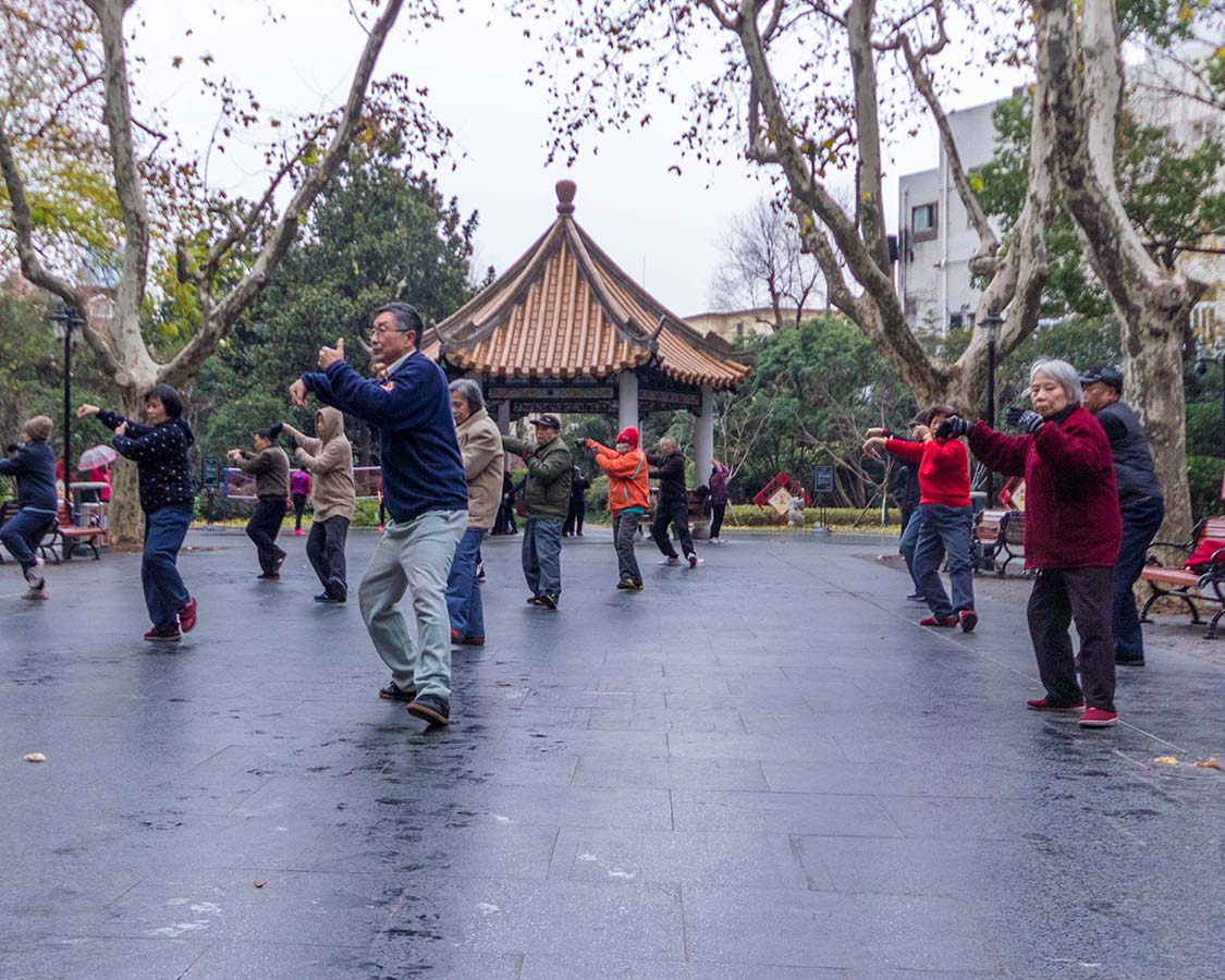 Tai Chi practicioners in Shanghai China
