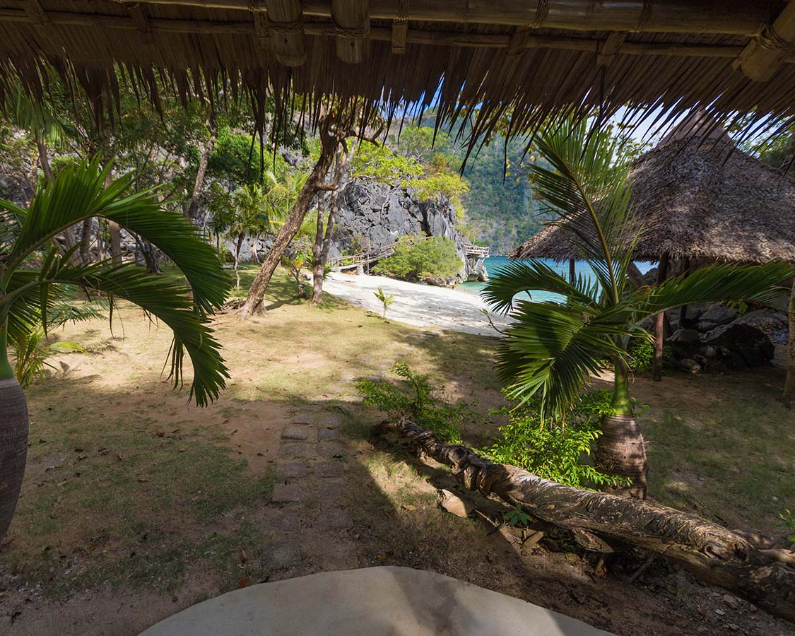 View from the Sangat Island Dive Resort Villa in Coron Palawan