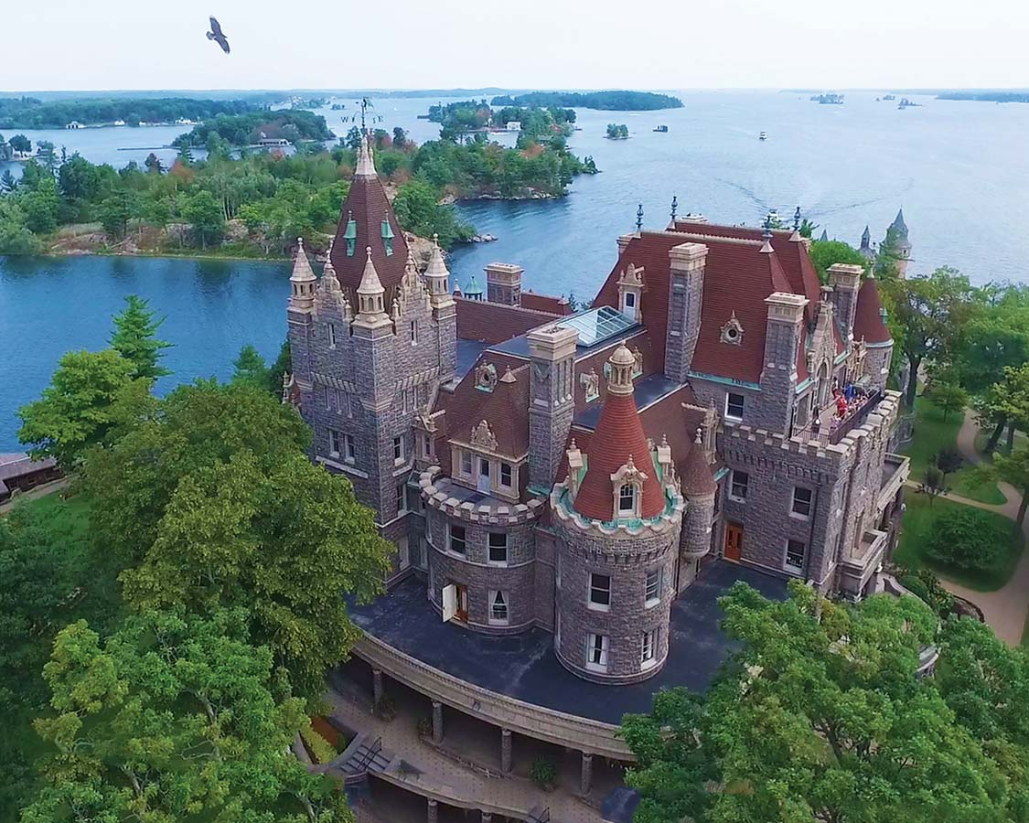 Boldt Castle in Ontario Thousand Islands National Park