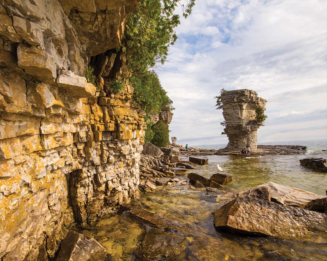 Flowerpot Island in Fathom Five National Marine Park