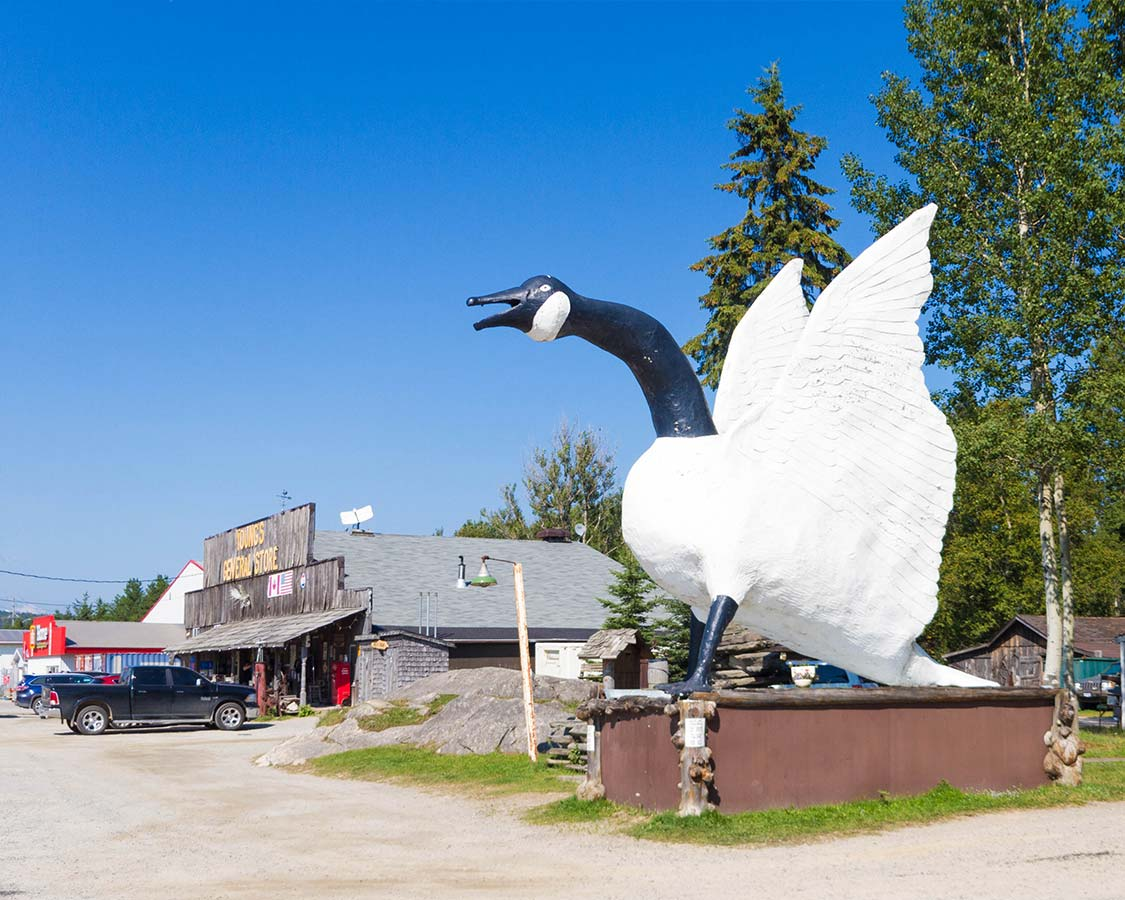 Goose Sculpture in Wawa Ontario